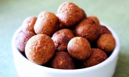 Vegetarian meatballs with lentil flour